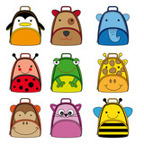 backpacks for school children. animal shaped backpacks