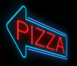 Neon pizza sign.