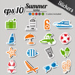 summer stickers - color stickers set