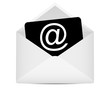 envelope to the e-mail symbol