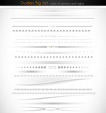Big collection of web dividers for web applications.