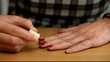 Woman apply red nail polish /episode 2/