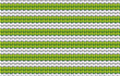 Vector background. Knitted fabric  with white and green stripes