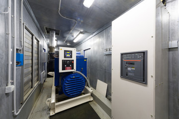 Control room diesel generator for backup power