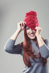 Beautiful woman in bonnet
