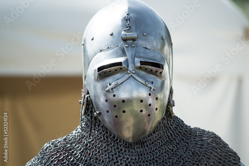 helmet of medieval knight