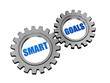 smart goals in silver grey gears