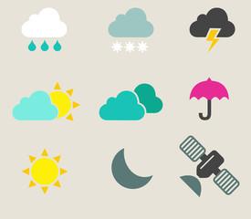 Set icones météo rétro