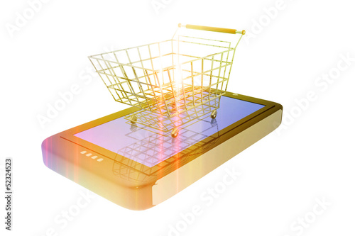 Shopping cart and digital device