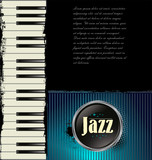 Jazz music background with piano