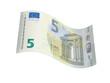 Leinwanddruck Bild - neuer 5 Euro Geldschein