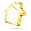 Golden House Icon 3D