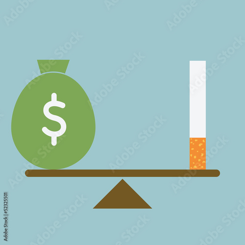 Smoking lose money