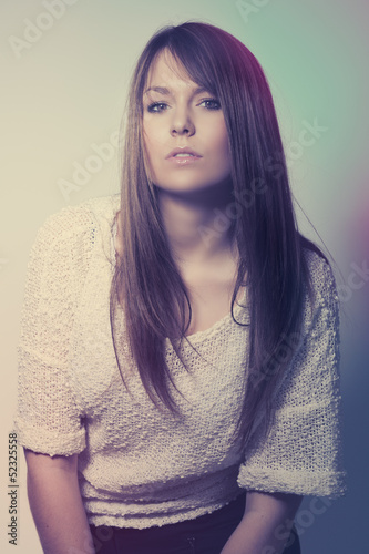 Artistic portrait of a beautiful young woman