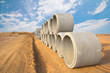 Reinforced concrete pipe.