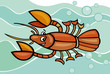 happy crayfish cartoon illustration