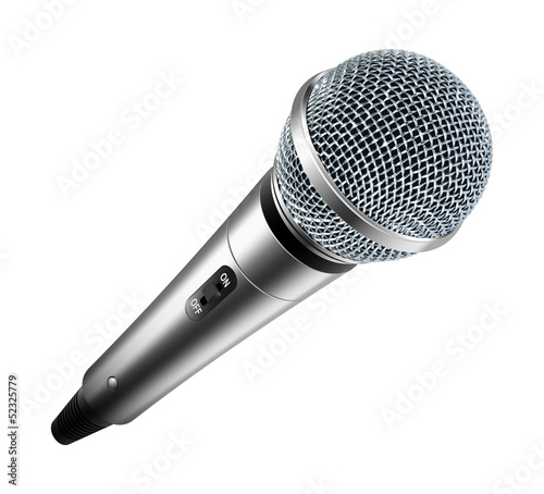 Vector microphone isolated on white background - 52325779