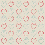 angel and evil hearts pattern