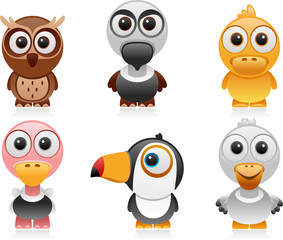 birds cartoon set 2