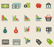 Set icones colorés Commerce/Finances