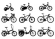 Different Style Bicycles