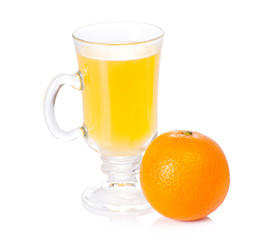 Glass with vitamin c and orange