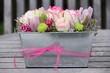 canvas print picture - Blumengesteck mit Rosen