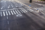 Intersection Zebra Crossing