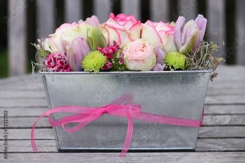 canvas print picture Blumengesteck mit Rosen