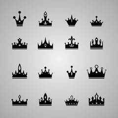 collection of many different crowns