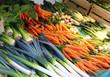 Leek, carrots, chard
