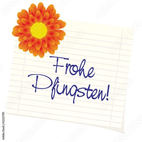 "Notitz ""Frohe Pfingsten"""