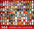 Vertical business cards collection