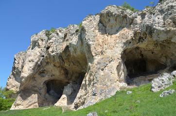"""Скала """"Череп""""в горах Адыгеи"""