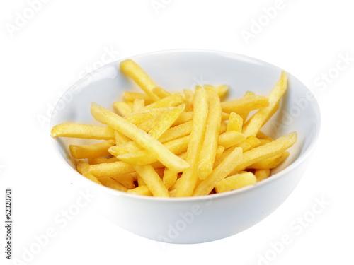eine schüßel pommes frites