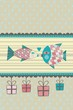 Kissing Fish seasonal card with space for your text