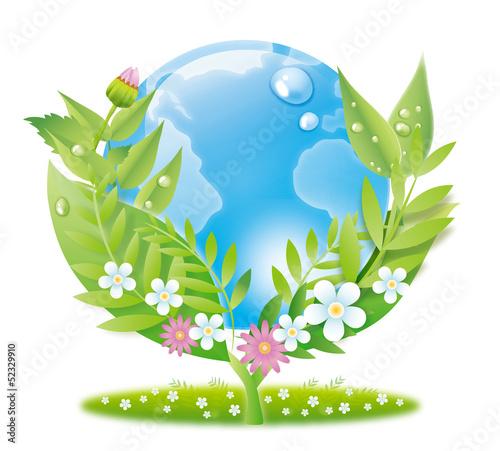 地球とエコのイメージ