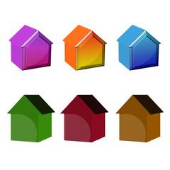 Иконки домов 3d