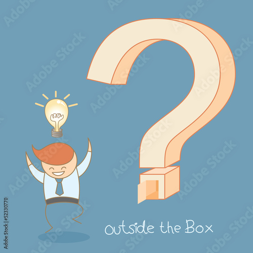 business man success idea outside the box