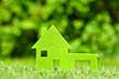 canvas print picture - Haus im grünen