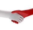 rot weiss handschlag