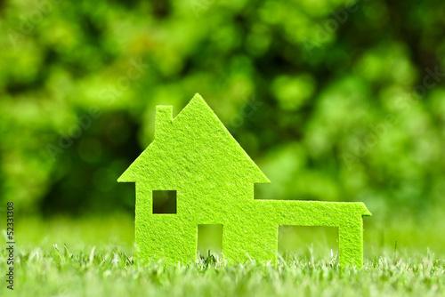 canvas print picture Haus im grünen