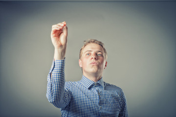 Man conducting