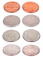 American Coins - High Angle