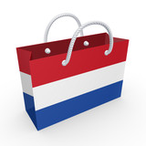 Packet with flag of Netherlands.
