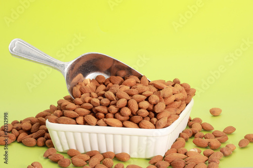 scoop of fresh almonds