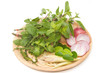 Different spices and herbs,fresh pepermint leaf, lemon grass ,ba