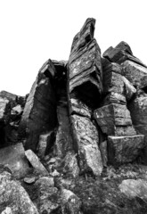 rock black and white