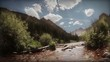 1289 Nostalgic Tourism Wilderness Fishing Creek Mountains LOOP