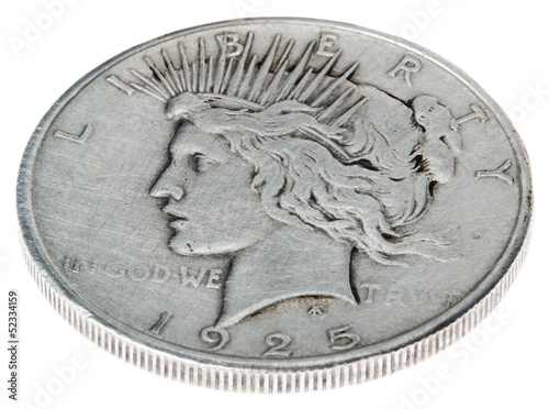 Poster Peace Dollar - Heads High Angle
